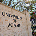 Miami Campus Sign In Spring by Replay Photos