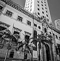 Miami Freedom Tower 1 - Miami - Florida - Black And White by Ian Monk