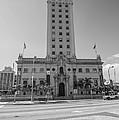 Miami Freedom Tower 3 - Miami - Florida - Black And White by Ian Monk