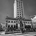 Miami Freedom Tower 4 - Miami - Florida - Black And White by Ian Monk