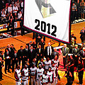 Miami Heat Championship Banner by J Anthony