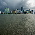 Miami Skyline Storm by Manuel Lopez