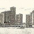 Miami - Venetian Causeway by Les Palenik