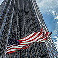Miami's Financial Center And Old Glory by Rene Triay Photography