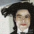Michael Jackson - Fly Away Hair Mosaic by Paulette B Wright