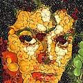 Michael Jackson In The Way Of Arcimboldo by Dragica  Micki Fortuna