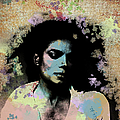 Michael Jackson - Scatter Watercolor by Paulette B Wright