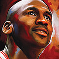 Michael Jordan Artwork 2 by Sheraz A