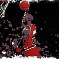Michael Jordan Poster Art Dunk by Florian Rodarte