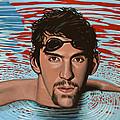 Michael Phelps by Paul Meijering