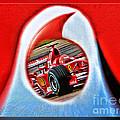 Michael Schumacher Though The Logo by Blake Richards