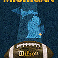 Michigan Football Poster by Design Turnpike