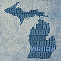Michigan Great Lake State Word Art on Canvas by Design Turnpike