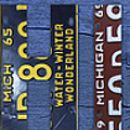 Michigan License Plate Art Lettering by Design Turnpike