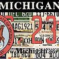 Michigan License Plate by Jeelan Clark