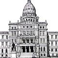 Michigan State Capitol by Frederic Kohli