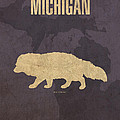 Michigan State Facts Minimalist Movie Poster Art  by Design Turnpike