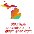Michigan State Map Collection 2 by Andee Design