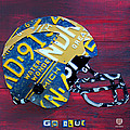 Michigan Wolverines College Football Helmet Vintage License Plate Art by Design Turnpike