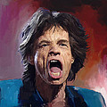 Mick Jagger Painting by Robert Wheater