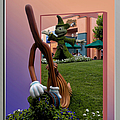 Mickey And Broom Floral Walt Disney World Hollywood Studios by Thomas Woolworth