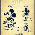 Mickey Mouse Patent Drawing From 1930 - Vintage by Aged Pixel
