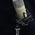 Microphone On Black by Paul Ward