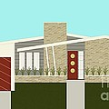 Mid Century Modern House 3 by Donna Mibus