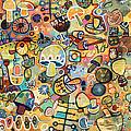 Mid Century Mushroom Madness by Jen Norton