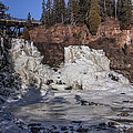 Middle Falls In Winter by T C Hoffman
