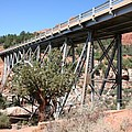 Midgley Bridge And Oak Creek Canyon  by Christiane Schulze Art And Photography