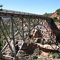 Midgley Bridge Over Oak Creek Canyon by Christiane Schulze Art And Photography