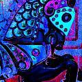 Midnight Blue Carousel Horse by Patty Vicknair