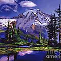 Midnight Blue Lake by David Lloyd Glover