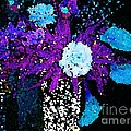 Midnight Callas And Orchids Abstract by Saundra Myles