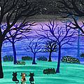 Midnight Cat Gathering by Tambra Wilcox