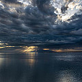 Midnight Clouds Over The Water by Andrew Matwijec
