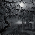 Midnight In The Graveyard  by James Christopher Hill