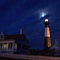 Midnight Moon Over Tybee Island by Gordon Elwell