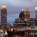 Midtown Atlanta Skyline At Dusk by Bill Cobb