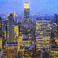 Midtown Manhattan And Empire State Building by Liz Leyden
