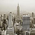 Midtown Manhattan With Empire State Building by Liz Leyden