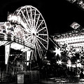 Midway Attractions In Black And White by Mark Andrew Thomas