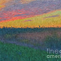 Midwest Sunset by Luther Fine Art