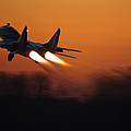 Mig-29 At Sunset by Marta Holka