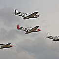 Mighty 8th P51 Mustangs  by Pat Speirs