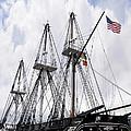Mighty Ship Of The Line In Boston by Brenda Kean