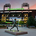 Mike Schmidt Statue At Dawn by Bill Cannon