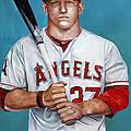 Mike Trout - La Angels Of Anaheim by Michael  Pattison