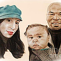 Mike Tyson And Family Altered Version From The One I Gave Him by Jim Fitzpatrick